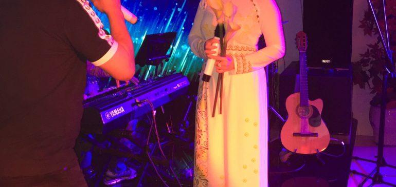 Ca sĩ Lưu Ánh Loan biểu diễn ở Louis
